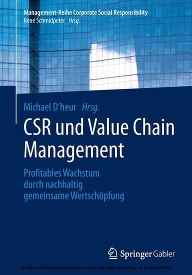 CSR und Value Chain Management - Blick ins Buch
