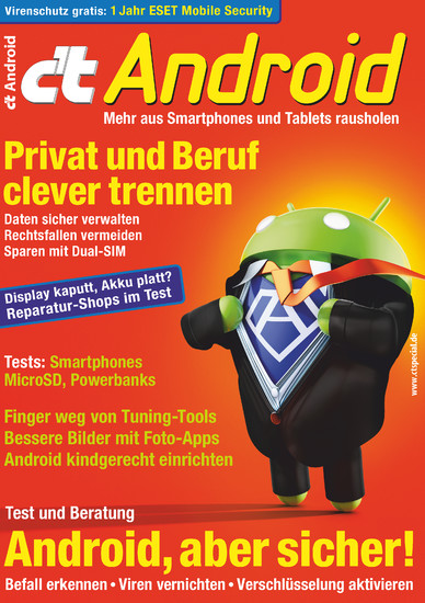 c't Android 2017 - Blick ins Buch