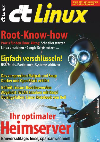 c't Linux 2017 - Blick ins Buch
