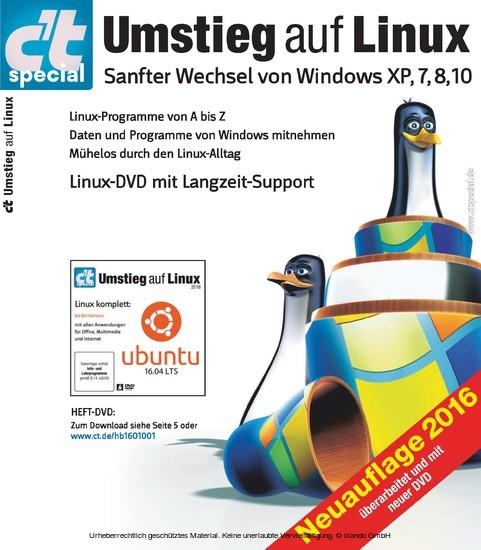 c't Umstieg auf Linux (2016) - Blick ins Buch