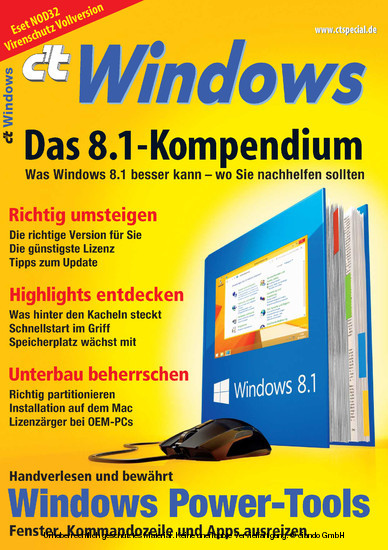 c't Windows - Blick ins Buch