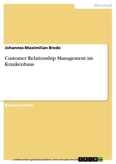 Customer Relationship Management im Krankenhaus - Blick ins Buch