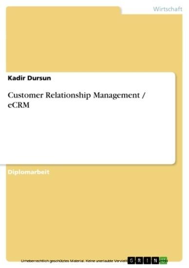 Customer Relationship Management / eCRM - Blick ins Buch