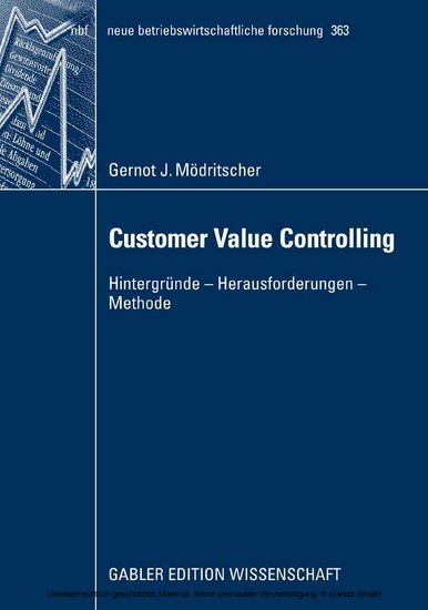 Customer Value Controlling - Blick ins Buch