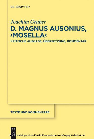 D. Magnus Ausonius, 'Mosella' - Blick ins Buch