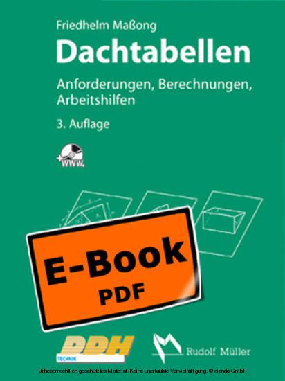 Dachtabellen - Anforderungen, Berechnungen, Arbeitshilfen - Blick ins Buch