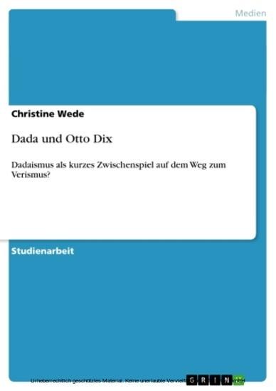 Dada und Otto Dix - Blick ins Buch