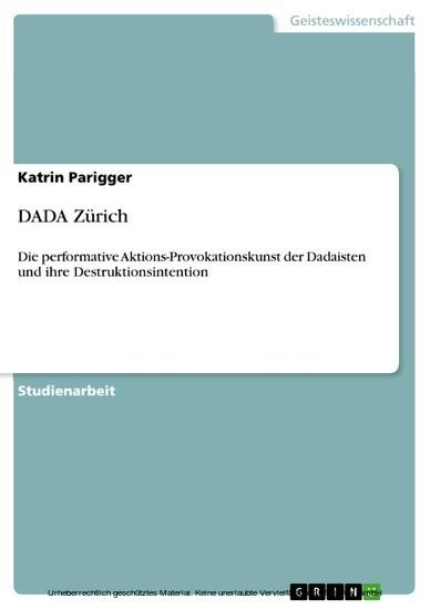 DADA Zürich - Blick ins Buch