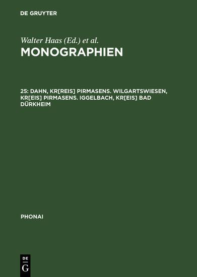 Dahn, Kr[reis] Pirmasens. Wilgartswiesen, Kr[eis] Pirmasens. Iggelbach, Kr[eis] Bad Dürkheim - Blick ins Buch