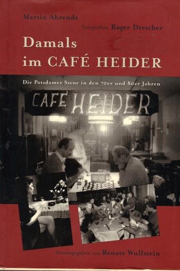 Damals im Café Heider - Blick ins Buch