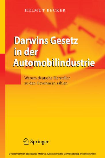 Darwins Gesetz in der Automobilindustrie - Blick ins Buch