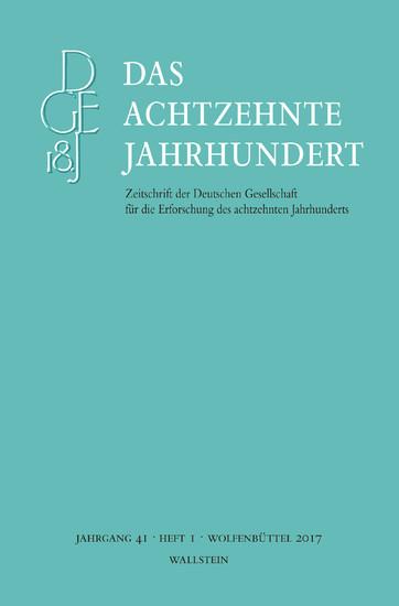 Das achtzehnte Jahrhundert 41/1 - Blick ins Buch