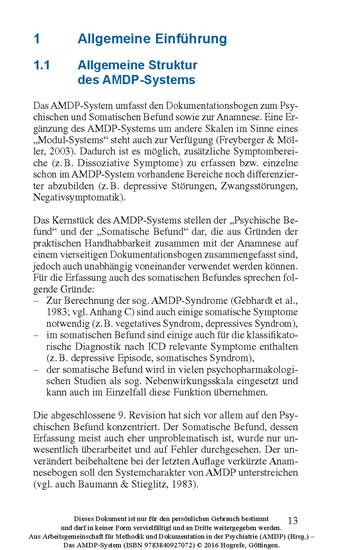 Das AMDP-System - Blick ins Buch