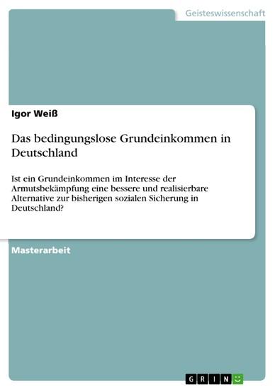Das bedingungslose Grundeinkommen in Deutschland - Blick ins Buch