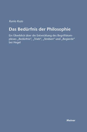 Das Bedürfnis der Philosophie - Blick ins Buch