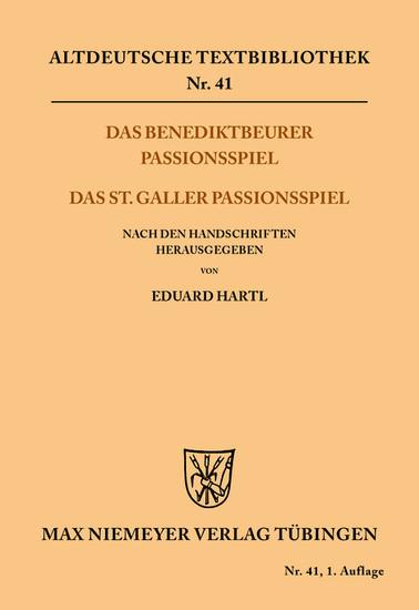Das Benediktbeurer Passionsspiel - Blick ins Buch
