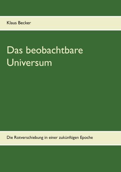 Das beobachtbare Universum - Blick ins Buch