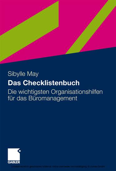 Das Checklistenbuch - Blick ins Buch