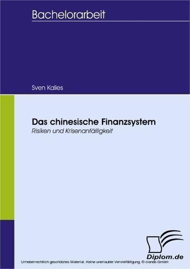 Das chinesische Finanzsystem - Blick ins Buch