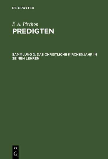 Das christliche Kirchenjahr in seinen Lehren - Blick ins Buch