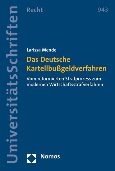 Das Deutsche Kartellbußgeldverfahren - Blick ins Buch