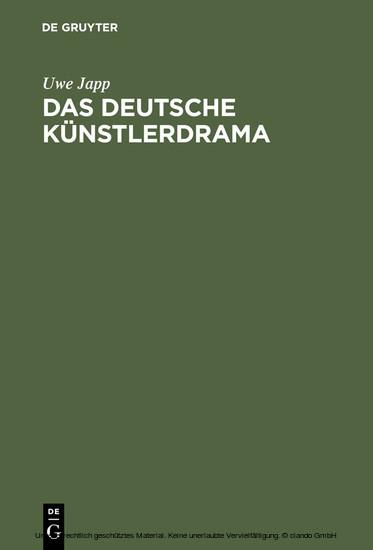 Das deutsche Künstlerdrama - Blick ins Buch