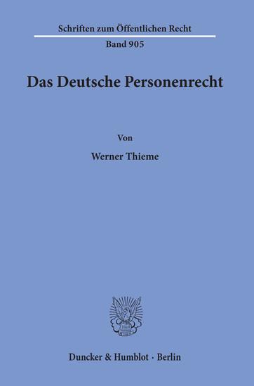 Das Deutsche Personenrecht. - Blick ins Buch