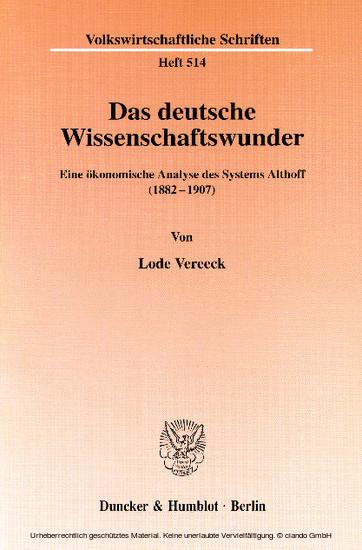 Das deutsche Wissenschaftswunder. - Blick ins Buch