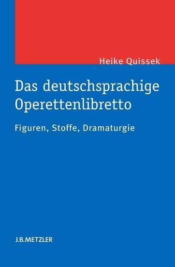Das deutschsprachige Operettenlibretto - Blick ins Buch