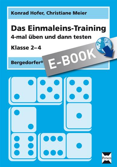 Das Einmaleins-Training - Blick ins Buch