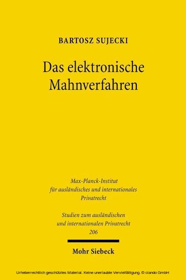 Das elektronische Mahnverfahren - Blick ins Buch
