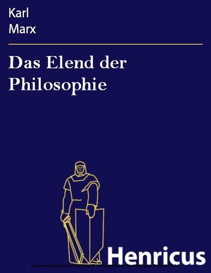 Das Elend der Philosophie - Blick ins Buch
