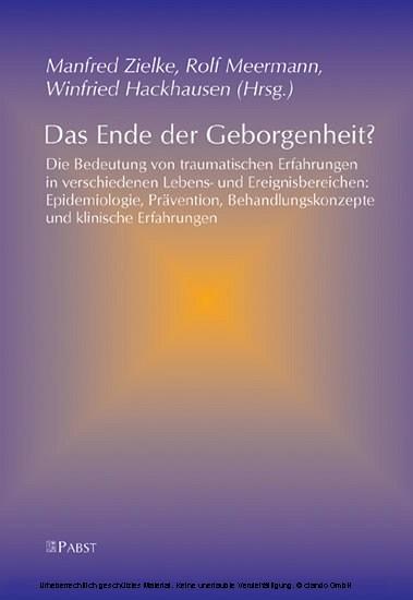 Das Ende der Geborgenheit? - Blick ins Buch