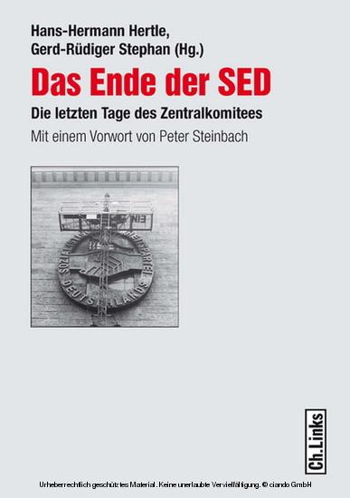 Das Ende der SED - Blick ins Buch