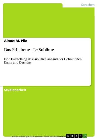 Das Erhabene - Le Sublime - Blick ins Buch
