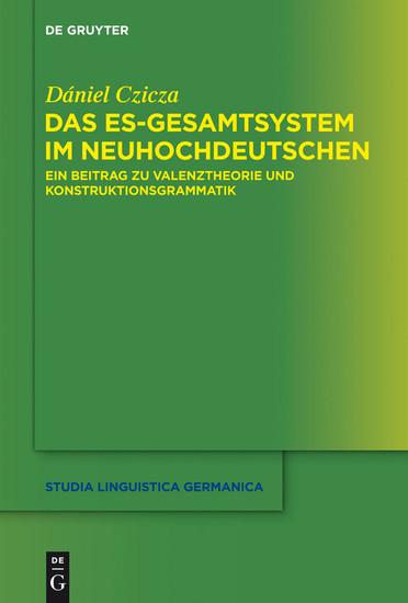 Das es-Gesamtsystem im Neuhochdeutschen - Blick ins Buch