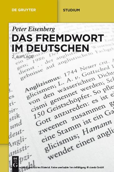 Das Fremdwort im Deutschen - Blick ins Buch