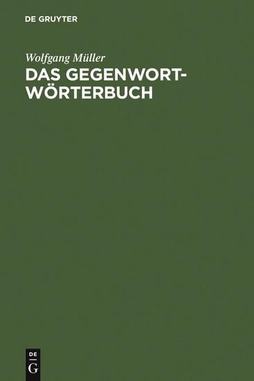 Das Gegenwort-Wörterbuch - Blick ins Buch