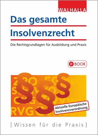 Das gesamte Insolvenzrecht - Blick ins Buch
