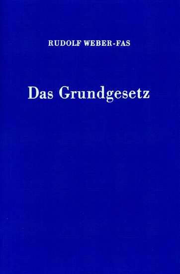 Das Grundgesetz. - Blick ins Buch