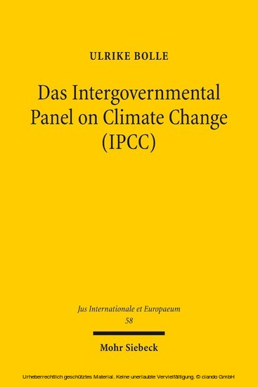 Das Intergovernmental Panel on Climate Change (IPCC) - Blick ins Buch