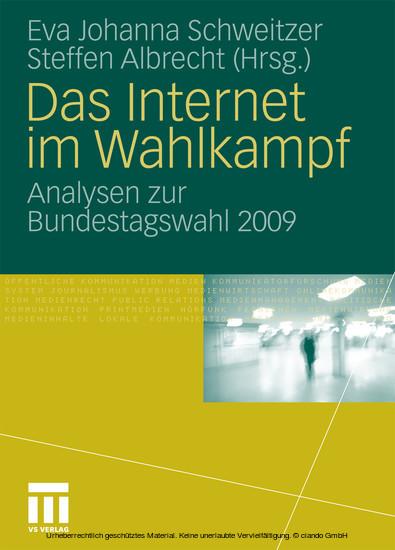 Das Internet im Wahlkampf - Blick ins Buch