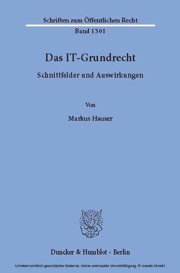 Das IT-Grundrecht. - Blick ins Buch