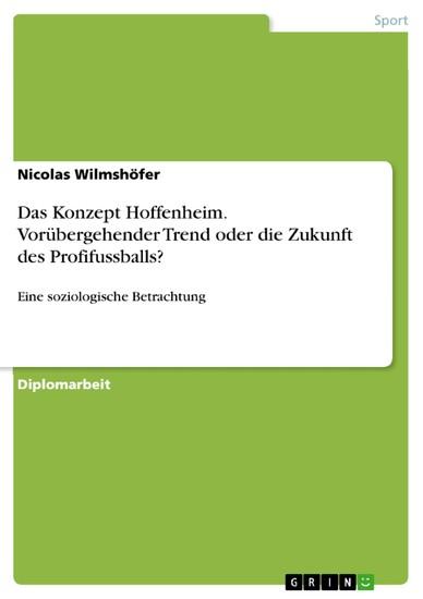 Das Konzept Hoffenheim. Vorübergehender Trend oder die Zukunft des Profifussballs? - Blick ins Buch