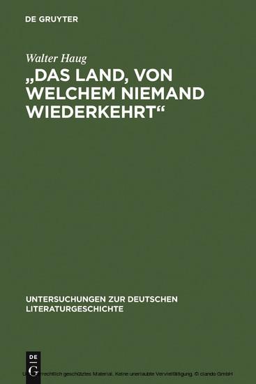 'Das Land, von welchem niemand wiederkehrt' - Blick ins Buch