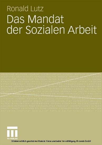 Das Mandat der Sozialen Arbeit - Blick ins Buch