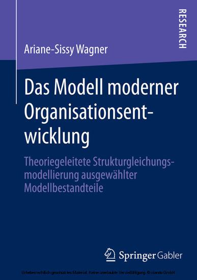 Das Modell moderner Organisationsentwicklung - Blick ins Buch