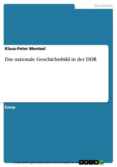 Das nationale Geschichtsbild in der DDR - Blick ins Buch