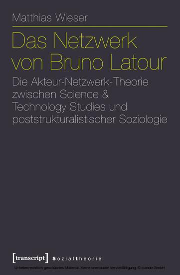 Das Netzwerk von Bruno Latour - Blick ins Buch