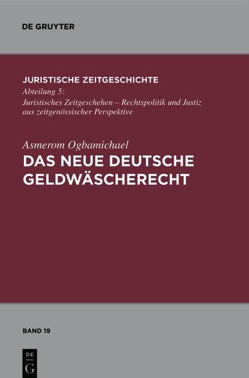 Das neue deutsche Geldwäscherecht - Blick ins Buch